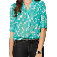 Papaya Clothing Online :: FLORAL SHEER BLOUSE
