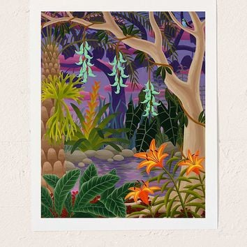 Amy Lincoln Jungle With Jade Vine Art Print | Urban Outfitters