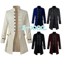 Men's Velvet Goth Victorian Frock Coat - Performance & Stage Wear -  Free Shipping