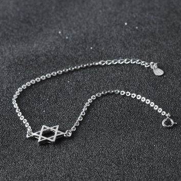 Stylish Shiny New Arrival Cute Ladies Gift Sexy Jewelry Korean Silver Simple Design Anklet [11213293012]