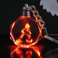 FREE OFFER! Exclusive Dragon Ball Dragonball Z Super Saiyajin Son Goku Crystal Key Chain LED Pendant Not Sold In Stores