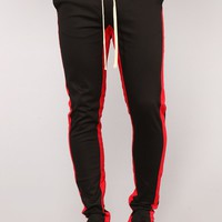 Travis Twill Joggers - Black/Red