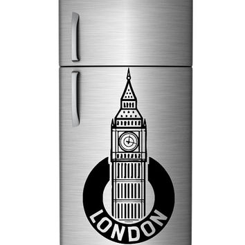 Wall Decal Sticker Abstract Art Decor London City Big Ban Building Tower 1354