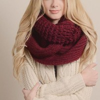 To Infinity and Beyond Scarf in Burgundy FINAL SALE!