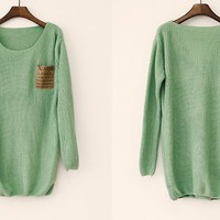 Mint Loose Sweater on Luulla