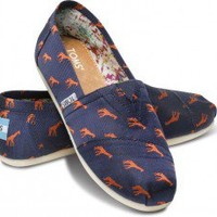 Embroidered Giraffe Youth Classics | TOMS.com