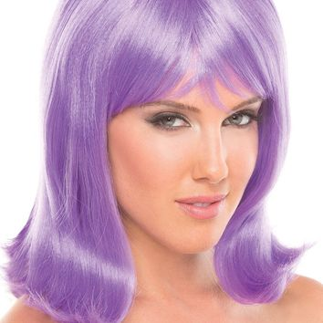 Be Wicked Lingerie Doll Wig Lavender