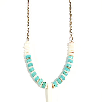 My Ocean Love Horn Bone Necklace