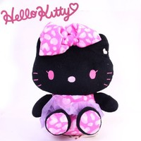 Sanrio Hello Kitty Leopard Plush Doll (Small/Black)