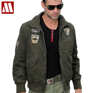 New cotton Stylish men aviator jacket combat jacket bomber jackets Airborne Division Outerwear