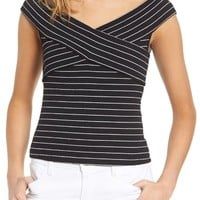 cupcakes and cashmere Lori Stripe Top | Nordstrom