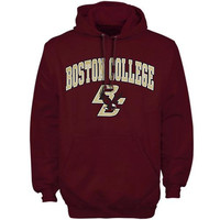 Boston College Eagles Arch Over Logo Hoodie – Maroon