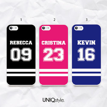 Custom Jersey team case with number name, for Sony Xperia Z, Z1, Z1s, Z2, Z1 compact, Xperia M, Xperia M2 - different colors choice - N40