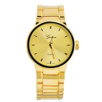 Jewelry Kay style Men's Bling Bling Fashion 14k Gold Plated Metal Band Hip Hop Watches WM 0939 G