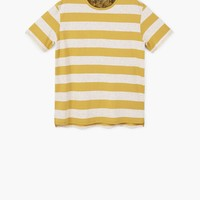 Striped cotton t-shirt - Women | MANGO USA