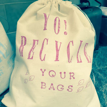 Recycle Draw String bags -FREE SHIPPING