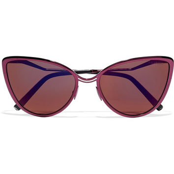 Cutler and Gross - Aphrodite cat-eye metal and acetate sunglasses