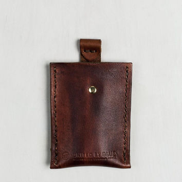 Leather Pull-Tab Card Case