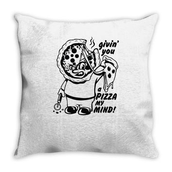 pizza my mind Throw Pillow