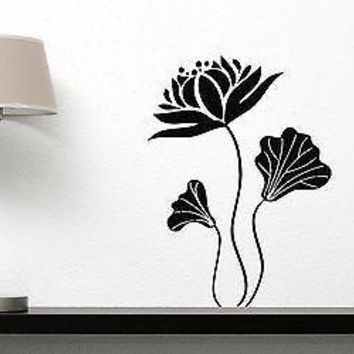 Wall Vinyl Sticker Decal Decor Fairy Magic Flower Amazing Beauty Unique Gift (n264)