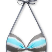 Gossip Wipe Out Turquoise & Grey Molded Cup Bikini Top