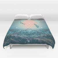 Find the Strength To Rise Up II Duvet Cover by Soaring Anchor Designs