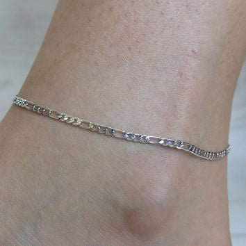 Gift Sexy Jewelry Cute New Arrival Shiny Stylish Chain Simple Silver Ladies Beach Anklet [6768759879]