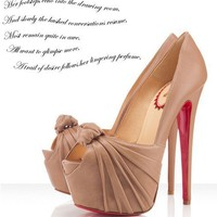 Christian Louboutin Lady Gres 160mm Beige - $199.00