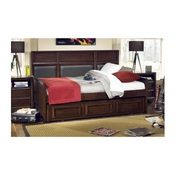 Legacy Dawson's Ridge Upholstered Panel Daybed In Heirloom Cherry