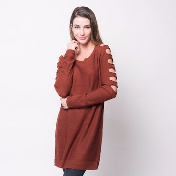 Open Sleeve Sweater Tunic