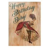 Birthday Wood Card Happy Birthday Baby