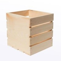 Houseworks, Crates and Pallet 9.5 in. x 9 in. x 9.5 in. Square Wood Crate, 94612 at The Home Depot - Mobile