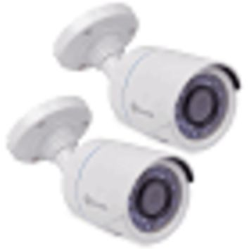 (2-Pack) Swann PRO-T850 720p Indoor/Outdoor Day/Night Bullet Security Camera w/100' Night Vision (White)