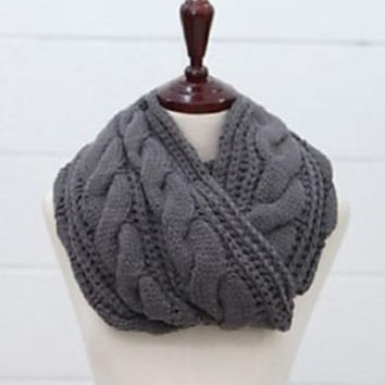 Gray Infinity Cable Knit Cable Knit Scarf Cable Knit Cowl Chunky Cable Knit Oversize Cable Knit Loop Cable Knit Eternity Cable Knit Soft