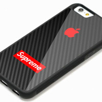 New Supreme Apple Red Logo iPhone 7 and 7+ Hard Plastic Case