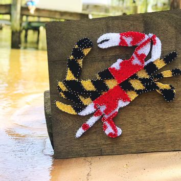 Maryland Flag Crab / String Art