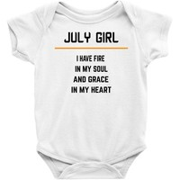 July Girl Baby Onesuit