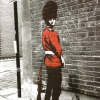 Banksy (Reproduction) Queens Guard Art Print Poster