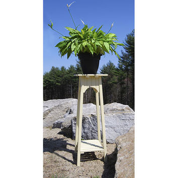 ACHLA Designs OFP-01 English Antique Ivory Plant Stand
