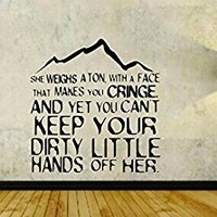 Hiking Quote Hike Mountain Hiker Vinyl Wall Decal Sticker Car Window Truck Decals Stickers HIKELOGO1 27x28
