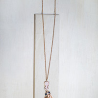 Passion Fruit Tassel Necklace
