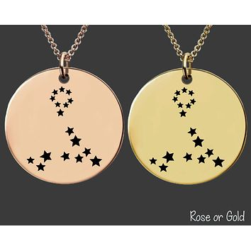 Pisces Constellation Necklace | Rose Gold or Gold Zodiac Necklace