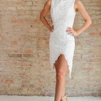 Eluna Lace Dress with Slit