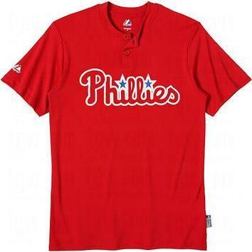 Philadelphia Phillies (ADULT XL) Two Button MLB Officially Licensed Majestic Major Lea