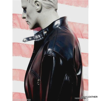 Schott nyc Horsehide Leather Racer  Made in Usa leather jackets