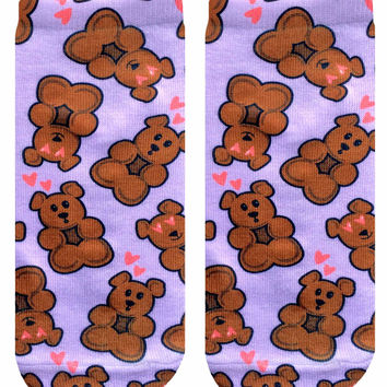Teddy Bear Ankle Socks