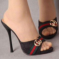 GUCCI Women Fashion Casual Sandals Heels Shoes