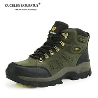 New Men/Women Hiking Shoes Non-slip Waterproof Climbing Shoes Anti-skid Wear Resistant Breathable Hiking Boots 1216