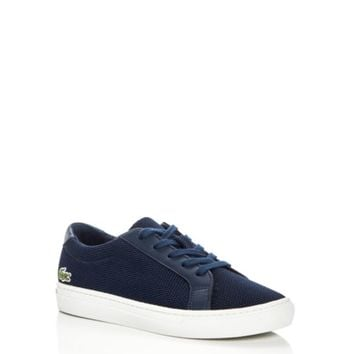 Lacoste Boys' Piqué Knit Lace Up Sneakers - Toddler, Little Kid | Bloomingdales's