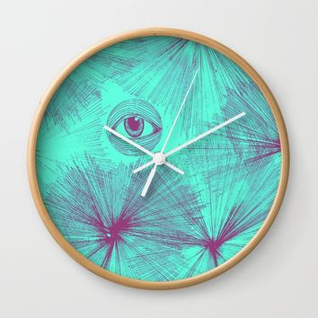 Uncommon Knowledge - Teal Wall Clock by Ducky B